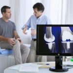 The orthopedist is giving his recommendation based on x-ray result