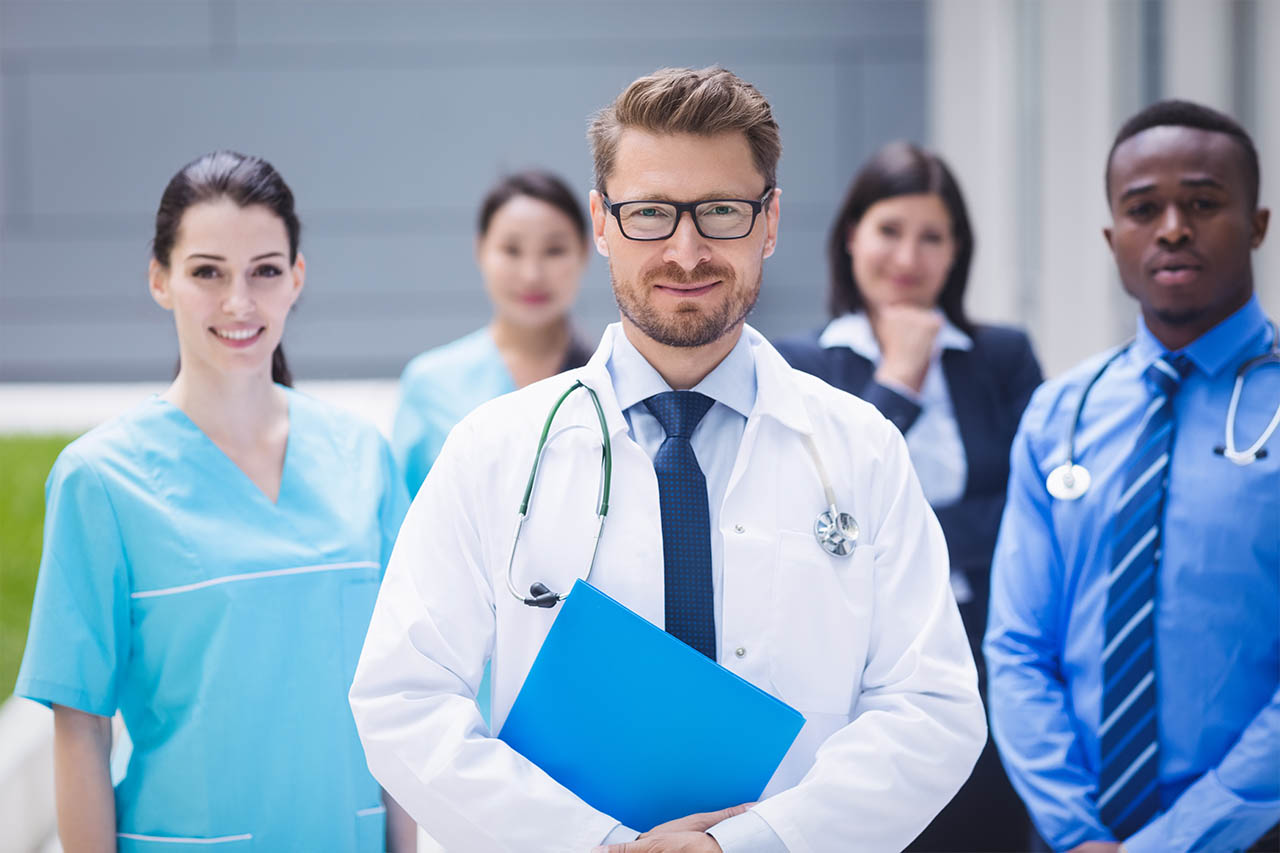 The doctors and his staffs are ready to give medical services.